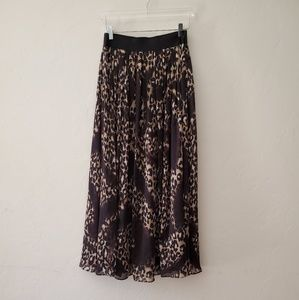 White House Black Market Leopard Print Maxi Skirt